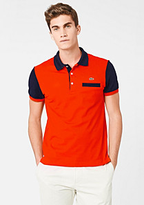 Two-tone Lacoste stretch polo Men