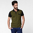 Two-tone Lacoste stretch polo