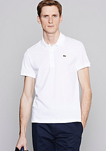 Plain Lacoste stretch polo Men