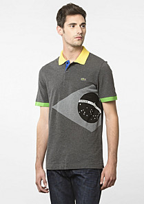 Flags Regular Lacoste polo - Brazil Men