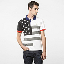 Flags Regular Lacoste polo - United States Men