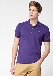 Stretch Grey Crocodile Lacoste Polo Men