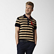 Regular fit striped Lacoste polo