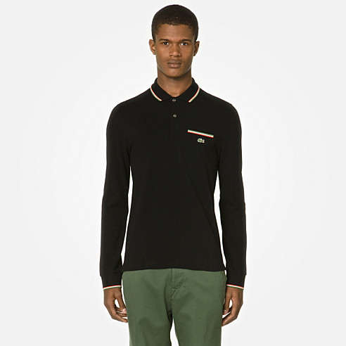 Lacoste Live Ultraslim fit long sleeved polo