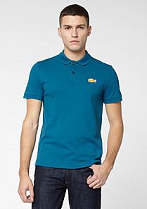 Lacoste Live Ultraslim fit polo with contrasting crocodile Men