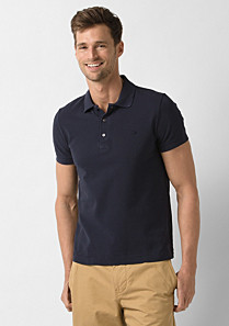 Plain Regular fit Lacoste polo Men