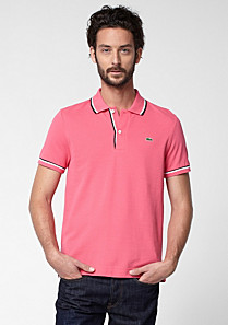 Lacoste regular fit Polo mit Paspeln Herren