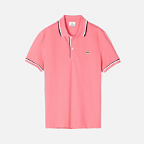 Regular fit Lacoste polo with piping Men