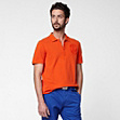 Slim fit Lacoste polo with badge