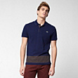 Slim fit striped Lacoste polo