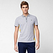 Slim fit Lacoste polo in cotton and linen