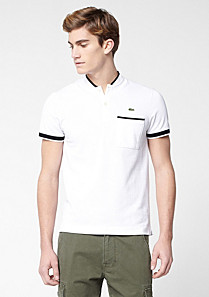 Slim fit Lacoste polo with dog ear collar Men