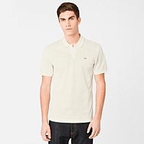 Regular Lacoste polo with piping Men