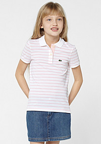 Lacoste Gestreiftes Polo gender.gir