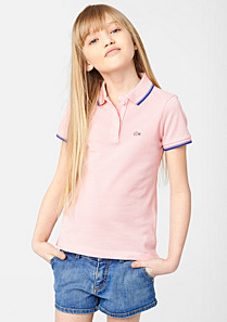 Lacoste Polo mit Paspeln gender.gir