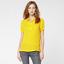 Lacoste Short sleeved silk top Women