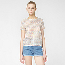 Printed Lacoste Live top Women