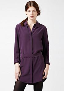 Lacoste Silk and cotton boatneck top Women