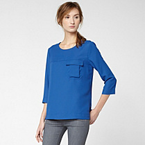 Lacoste 3/4 sleeve top with pocket Women