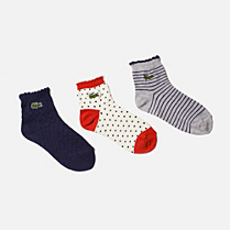 Lacoste Set of patterned short socks Children