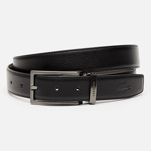 Reversible grained cowhide leather belt with gift box