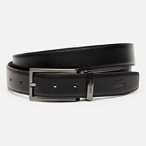 Lacoste Reversible grained cowhide leather belt with gift box Men