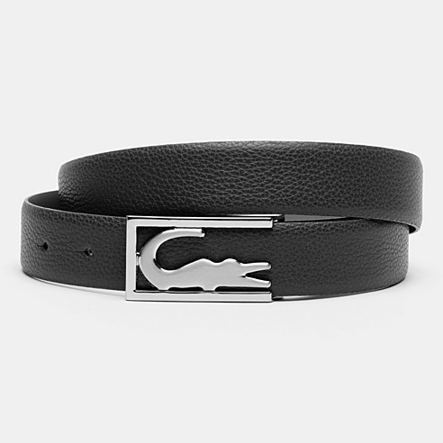 Grained calfskin leather belt with gift box