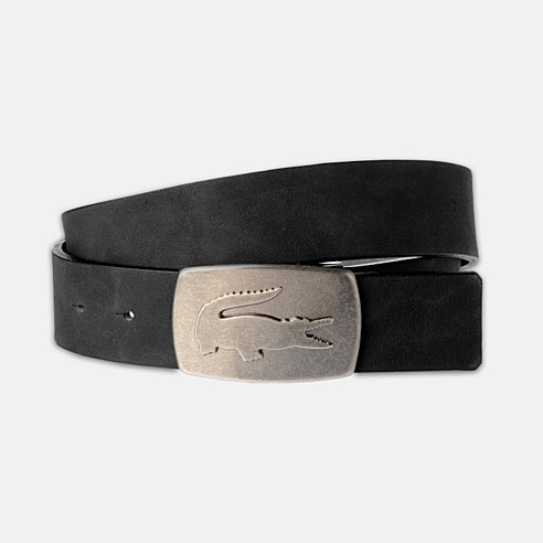 Washed look cowhide leather belt