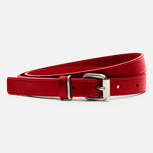 Matte cowhide leather belt
