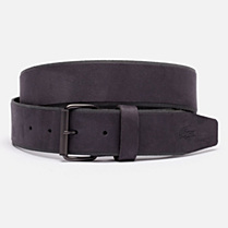 Lacoste Live suede-look cowhide leather belt Men