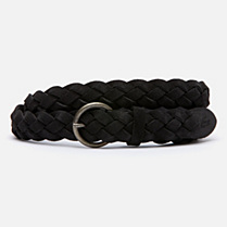 Lacoste Live suede-look braided cowhide leather belt Women