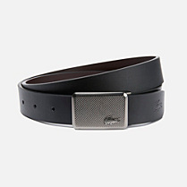 Lacoste Reversible smooth cowhide leather belt with gift box Men