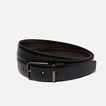 Lacoste Reversible smooth cowhide leather belt Men