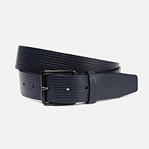 Lacoste Matte cowhide leather belt Men