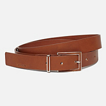 Lacoste Matte cowhide leather belt Women