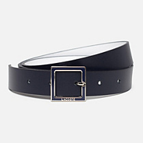 Lacoste Reversible smooth cowhide leather belt with gift box Women