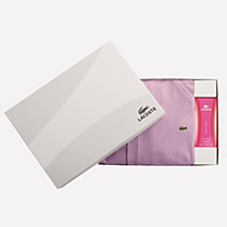 Lacoste Piqué gift pack bathrobe + shower gel Women