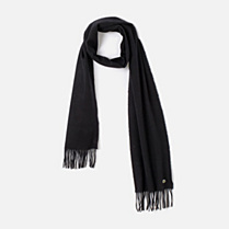Lacoste Wool and cashmere fringed scarf Men