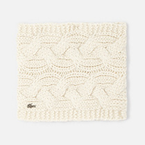 Lacoste Cable knit neck warmer Women