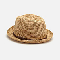 Lacoste Braided straw hat Women