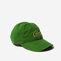 Lacoste Cap with big green crocodile Children
