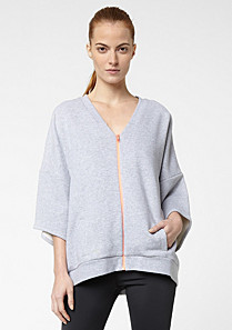 Lacoste Active 3/4 sleeve zipped sweatshirt Women