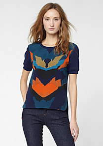 Lacoste Short sleeved printed sweatshirt Women