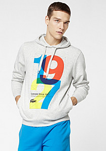 Lacoste Casual Sport hooded printed sweatshirt Men