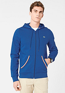 Lacoste Hooded zipped sweatshirt Men