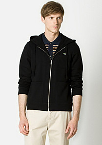 Lacoste Slim fit zip-up hooded sweatshirt Men