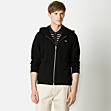 Slim fit zip-up hooded sweatshirt
