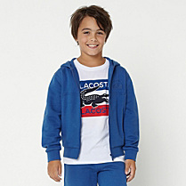 Lacoste Sport hooded zipped sweatshirt Boy