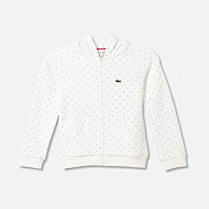 Lacoste Polka dot zipped hooded sweatshirt gender.gir