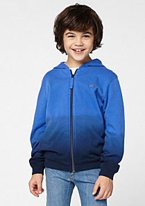 Lacoste Hooded graduated effect sweatshirt Boy